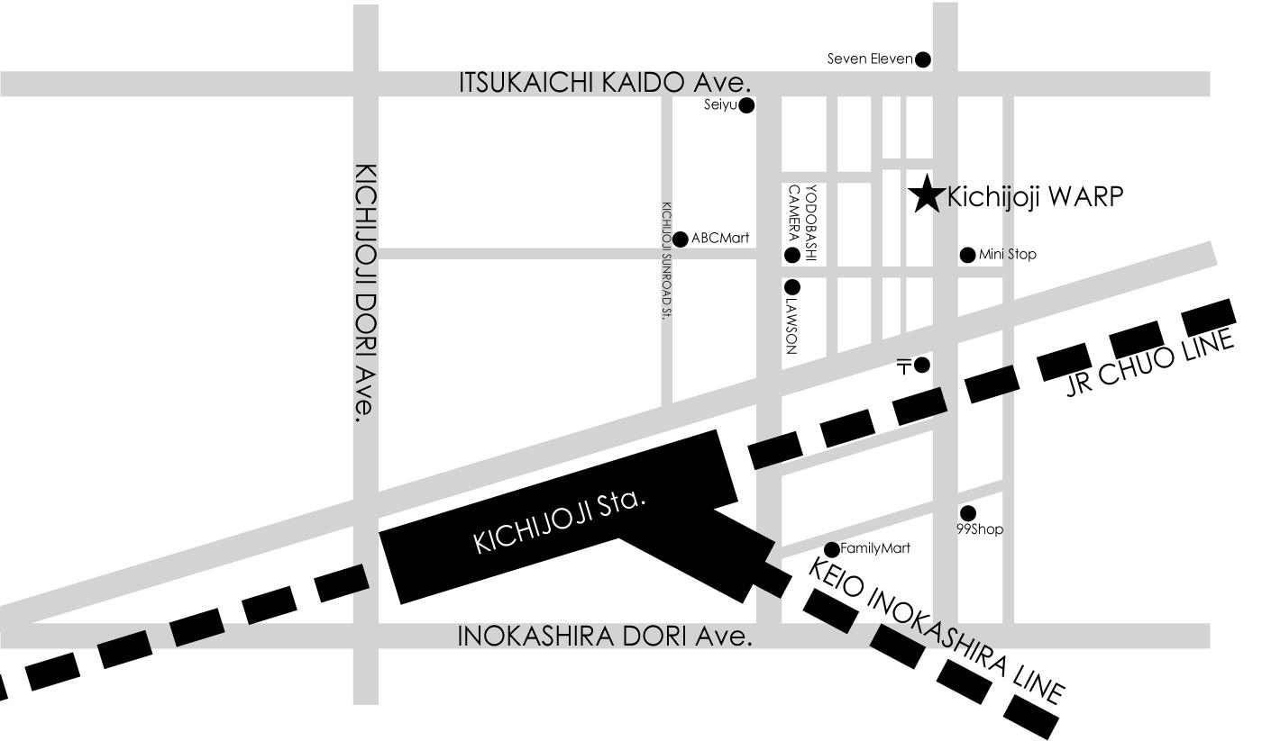 Map Image - KICHIJOJI WARP